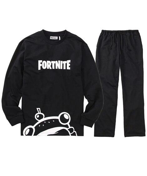FORTNITE(フォートナイト) ロゴプリント長袖上下セット(Tシャツ+パンツ) メンズパジャマ, Men's Pajamas