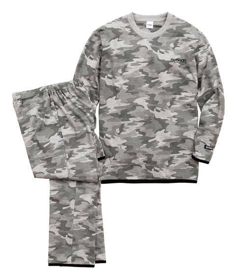 OUTDOOR PRODUCTS(アウトドアプロダクツ)迷彩総柄上下セット メンズパジャマ, Men's Pajamas