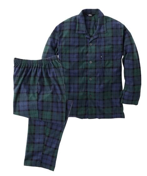 ピケフリース前開きパジャマ(長袖シャツ+ロングパンツ)/POLO BCS(ポロ。ビーシーエス) メンズパジャマ, Men's Pajamas
