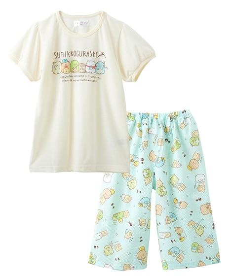 【すみっコぐらし】半袖パジャテコ(半袖Tシャツ+ステテコ)(女の子 子供服 ジュニア服) キッズパジャマ, Kids' Pajamas