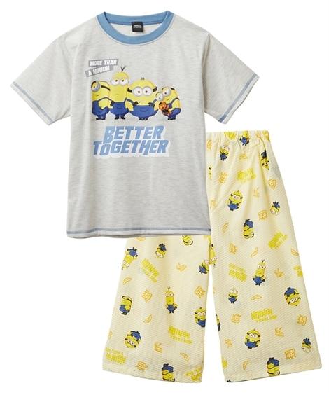 【ミニオン】半袖パジャテコ(半袖Tシャツ+ステテコ)(男の子 女の子 子供服 ジュニア服) キッズパジャマ, Kids' Pajamas