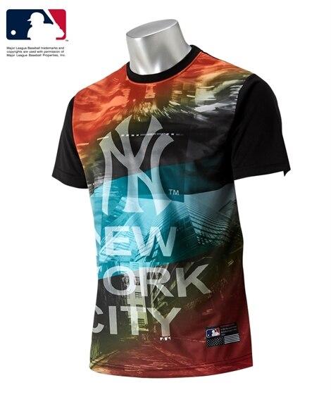 MLB メッシュプリントTシャツ メンズパジャマ...