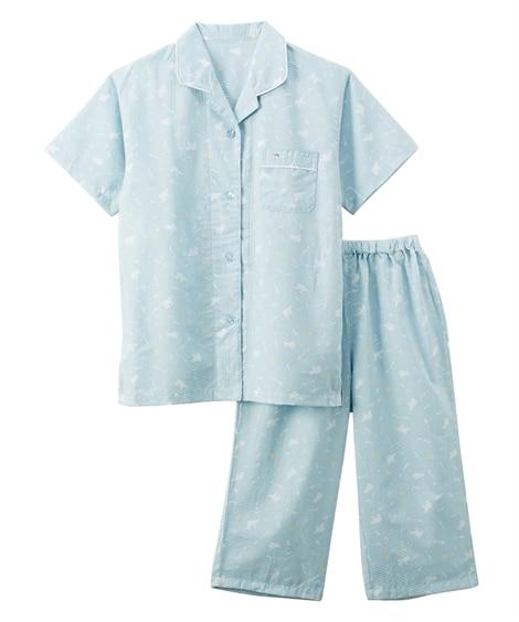 【WEB限定】くま柄半袖シャツパジャマ(キシリトール加工) (パジャマ・ルームウェア)Pajamas