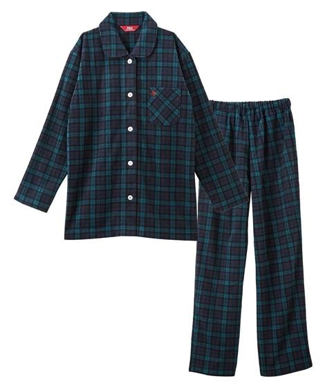 【WEB限定】POLO BCS ふわぬくフリースチェック柄前開きシャツパジャマ(3L) (パジャマ・ルームウェア)Pajamas
