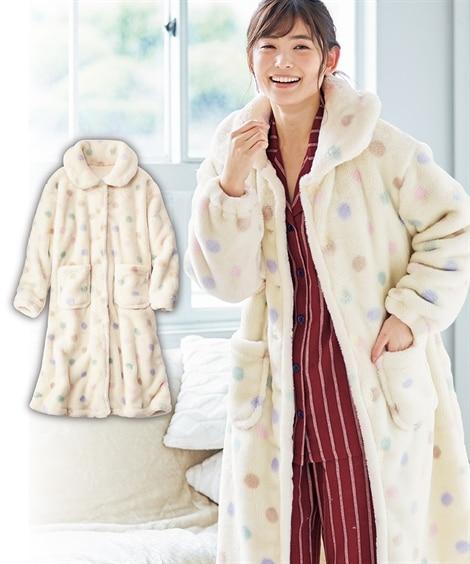 ニッセンオンラインで買える「まるで毛布!プレミアムマイヤーロングワンピース(L (パジャマ・ルームウェア)Pajamas」の画像です。価格は4,389円になります。