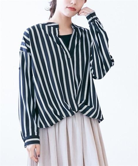 2点セット(裾タックスキッパーシャツ+タンクトップ) (ブラ...