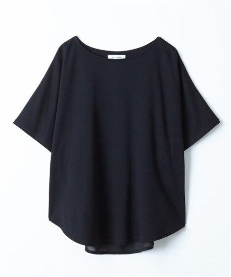 シフォン切り替えドルマンカットソープルオーバー (Tシャツ・...