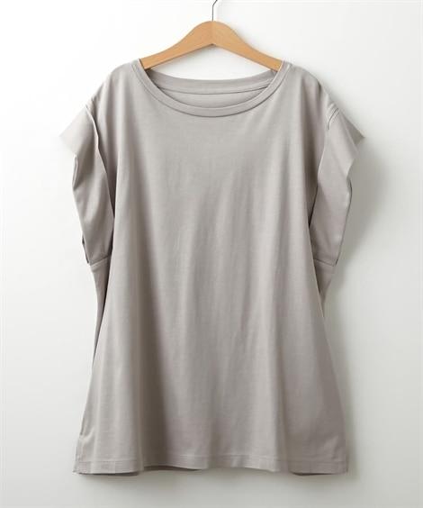 汗じみにくいレーヨン混素材ノースリーブトップス (Tシャツ・...