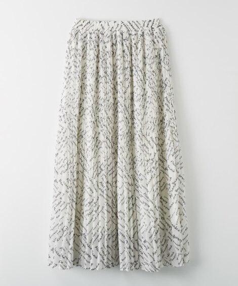 プチロゴプリントがかわいい♪シフォンプリーツロングスカート ...