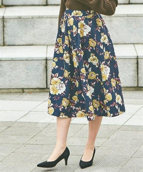 花柄フレアスカート (ひざ丈スカート)Skirts, 裙子