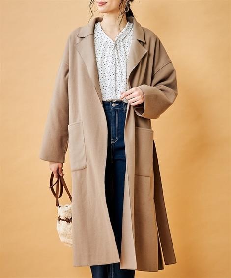 ほっそり華奢見せ◎ロングガウンコート (コート)(レディース)Coat
