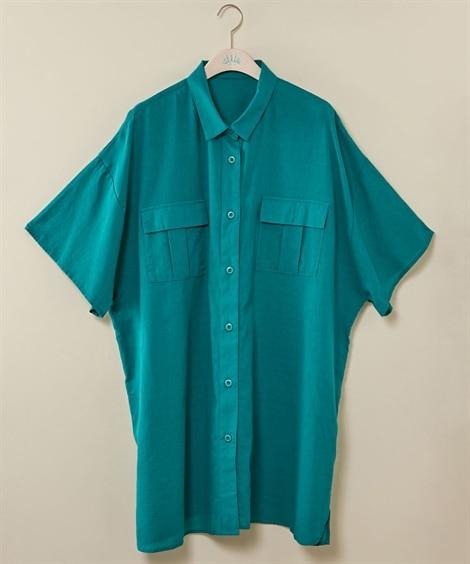 アウトポケットチュニックシャツ【Reinette】 (大きい...