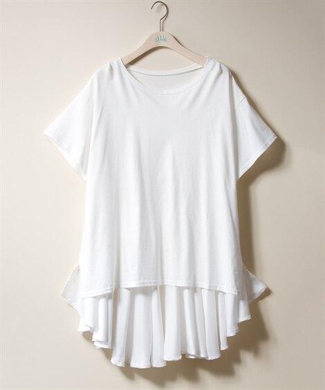バック裾フリル切替プルオーバー【INCEDE】 (大きいサイ...