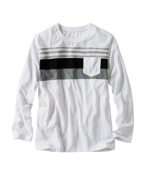 長袖切替デザインTシャツ Tシャツ・カットソー...