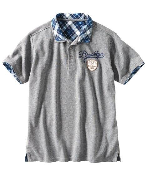フェイクレイヤード半袖ポロシャツ ポロシャツ