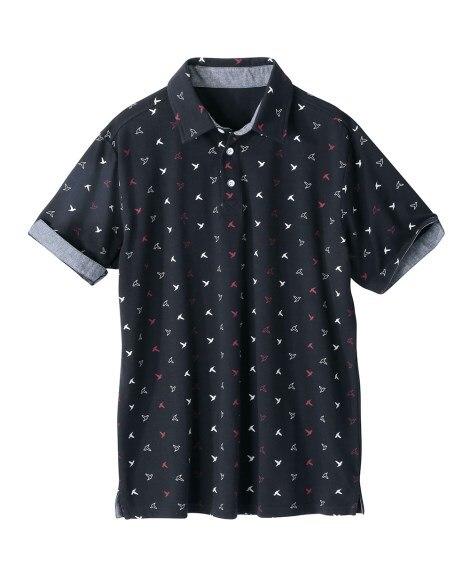 総柄プリント半袖ポロシャツ ポロシャツ