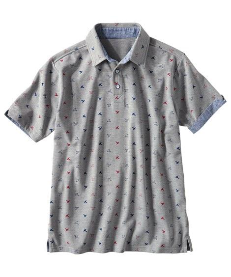 総柄プリント半袖ポロシャツ ポロシャツ...