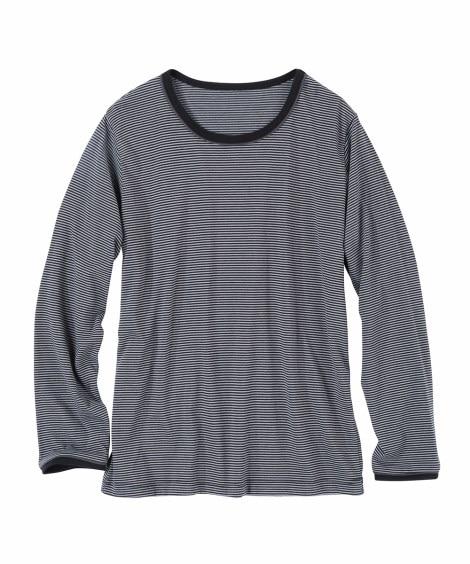 部分配色デザイン長袖Tシャツ Tシャツ・カットソー, T-s...