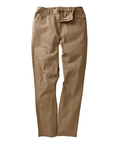 ストレッチ5ポケットカラーパンツ(スリムシルエット) チノパ...