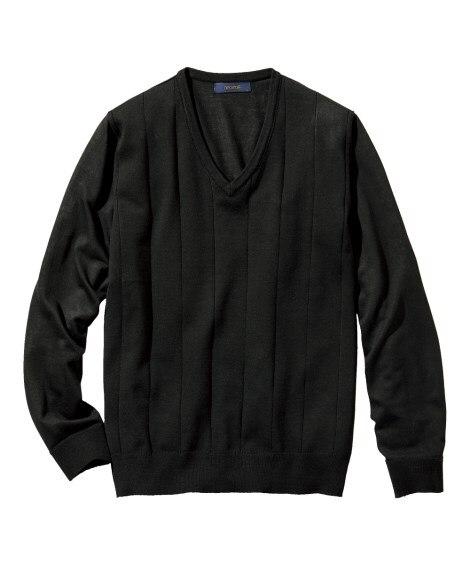 洗濯機で洗える薄手Vネックセーター (ニット・セーター)Sw...
