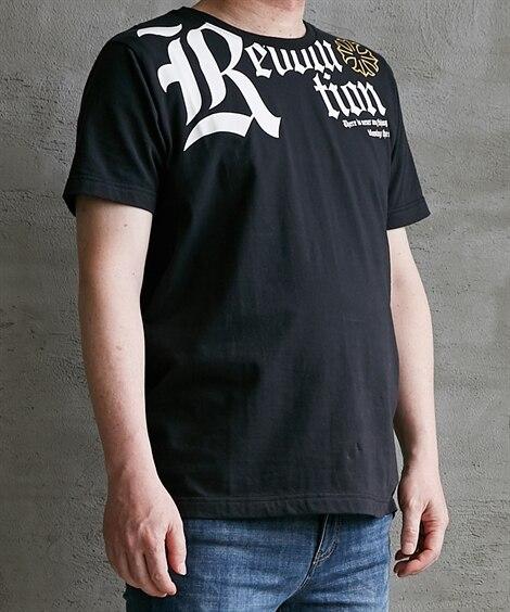 綿100% フロントBIGロゴプリント半袖Tシャツ Tシャツ...