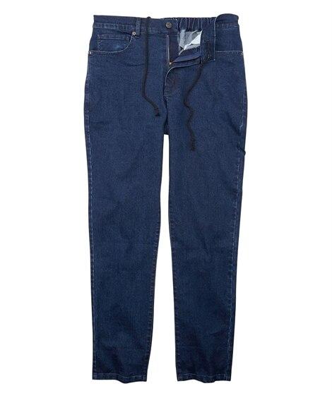 ストレッチ素材5ポケットデニムパンツ(ゆったりフィット) ストレートジーンズ(デニム) Jeans