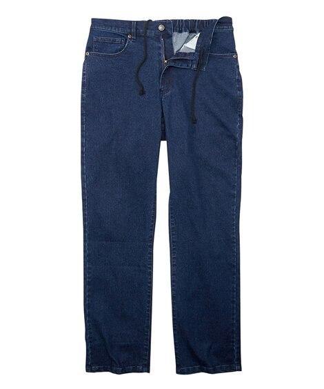 太ももゆったりストレッチ素材5ポケットデニムパンツ(もっとゆったりフィット) ストレートジーンズ(デニム) Jeans