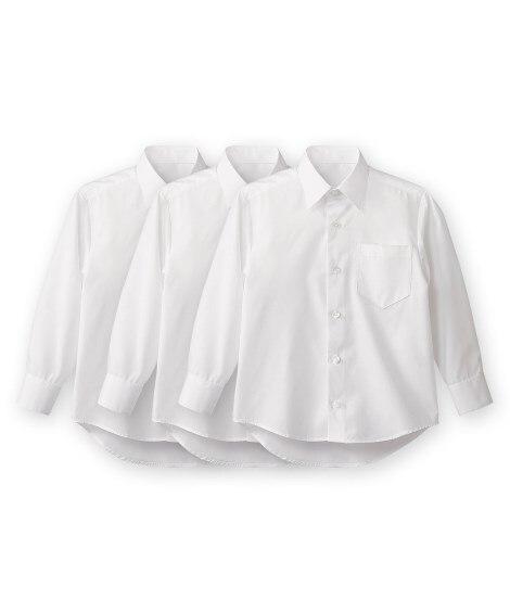 【もっとゆったりサイズ】形態安定。長袖スクールシャツ3枚組 ...