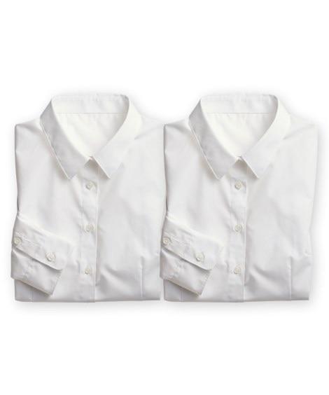 形態安定レギュラーカラーシャツ2枚組(ゆったりバスト) (ブ...