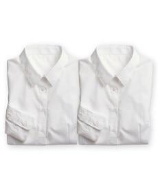 <ニッセン> 綿100%カットドビー衿なしスキッパーブラウス (大きいサイズレディース)ブラウスplus size 10