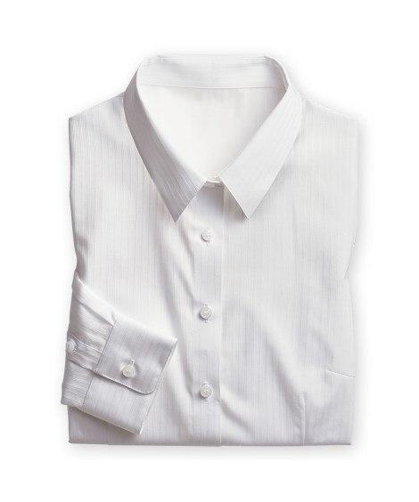 <ニッセン>形態安定ドビー織レギュラーカラーシャツ(レギュラーバスト) シャツ・ブラウス