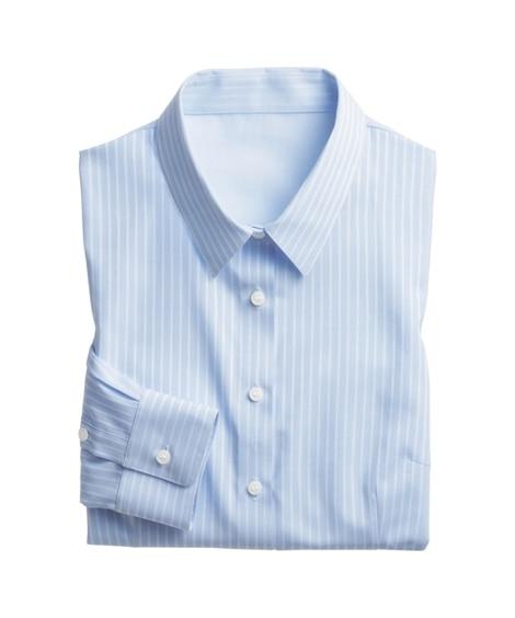 形態安定ドビー織レギュラーカラーシャツ(ゆったりバスト) (...
