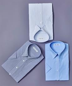 <ニッセン>形態安定ドビー織レギュラーカラーシャツ(レギュラーバスト) シャツ・ブラウス 16