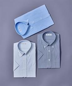 <ニッセン>形態安定ドビー織レギュラーカラーシャツ(レギュラーバスト) シャツ・ブラウス 17