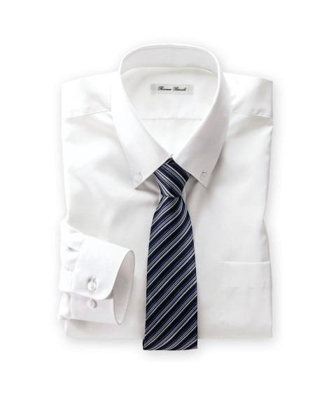 抗菌防臭。形態安定長袖ワイシャツ(ボタンダウン)(標準シルエ...