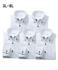<ニッセン>形態安定ドビー織レギュラーカラーシャツ(レギュラーバスト) シャツ・ブラウス 21