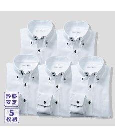 <ニッセン>形態安定ドビー織レギュラーカラーシャツ(レギュラーバスト) シャツ・ブラウス 23