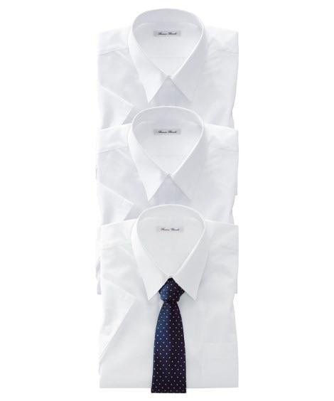 【紳士服】 抗菌防臭。形態安定半袖ワイシャツ3枚組(レギュラ...
