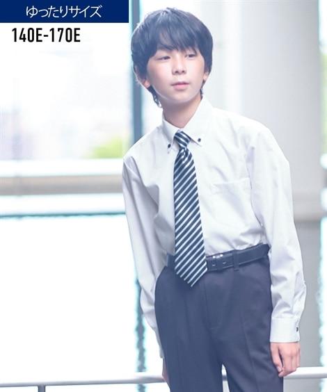 11bdb84d13604 ストライプ   卒業式  もっとゆったりサイズ ネクタイ付シャツ(男の子 子供服 ...