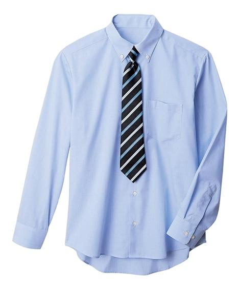 【子供服】 【卒業式】【もっとゆったりサイズ】ネクタイ付シャ...