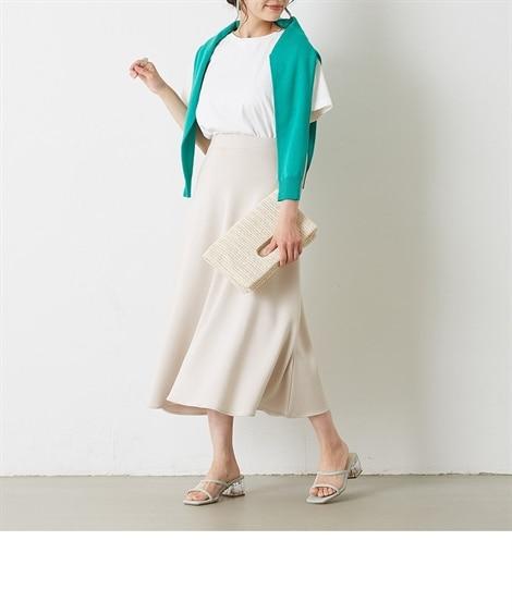 小さいサイズ ポンチフレアスカート 【小さいサイズ・小柄・プチ】ロング丈・マキシ丈スカート, Skirts