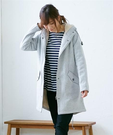 【裏ボア】カットソーモッズ風コート。ジャケット (ジャケット...