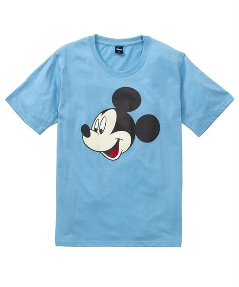 DISNEY(ディズニー)ミッキー フェイスプリント半袖Tシャツ Tシャツ・カットソー, T-shirts,