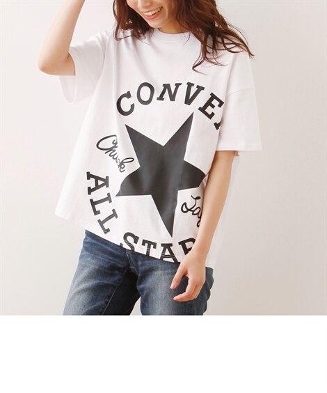 コンバース 綿100%ロゴゆるシルエットTシャツ【限定商品】...