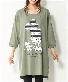 <ニッセン> コンバース 綿100%7分袖ロゴゆるシルエットTシャツ。ニッセンオリジナル。 (大きいサイズレディース)Tシャツ・カットソー 4
