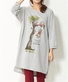 <ニッセン> コンバース 綿100%7分袖ロゴゆるシルエットTシャツ。ニッセンオリジナル。 (大きいサイズレディース)Tシャツ・カットソー 5