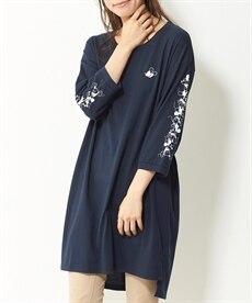 <ニッセン> コンバース 綿100%7分袖ロゴゆるシルエットTシャツ。ニッセンオリジナル。 (大きいサイズレディース)Tシャツ・カットソー 6