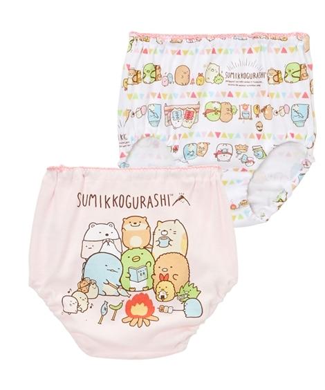 【すみっコぐらし】綿100%ショーツ2枚組(女の子 子供服) キッズ下着, Kid's Underwear