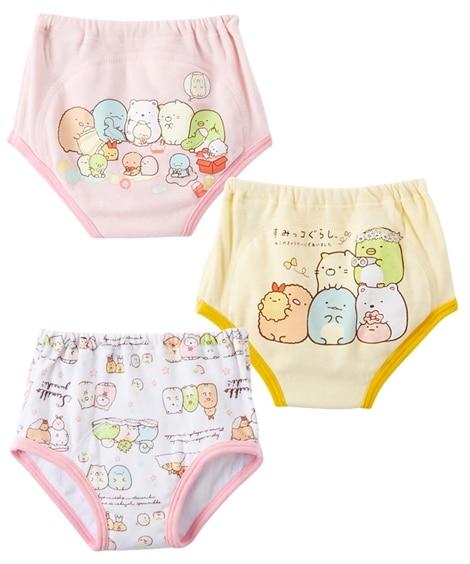 【すみっコぐらし】3層トレーニングパンツ3枚組(女の子) 【ベビー服】Babywear