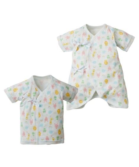 新生児肌着2点セット(短肌着+コンビ肌着) 【ベビー服】